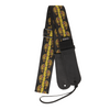 My Fave Guitar Strap in Yellow Flaming Skulls