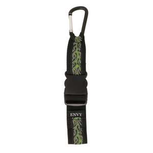 My Fave Jacket Strap in Green Flames
