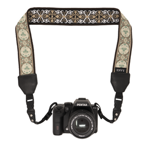 My Fave Camera Neck Strap - Reversible Camera Strap, Decorative Camera Strap - Pattern: At Peace, Color: Tan