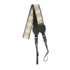 My Fave Long Camera Neck Strap - Decorative Camera Strap - Pattern: At Peace, Color: Tan