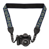 My Fave Long Camera Neck Strap - Decorative Camera Strap - Pattern: Blue Blooms