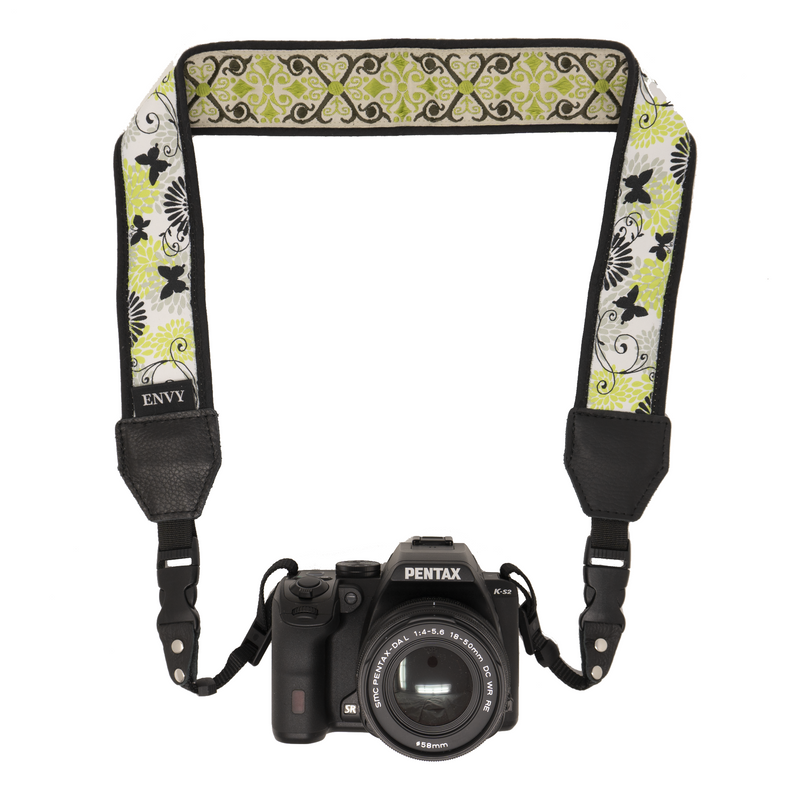 My Fave Camera Neck Strap - Decorative, Reversible Camera Strap - Pattern: Butterflies