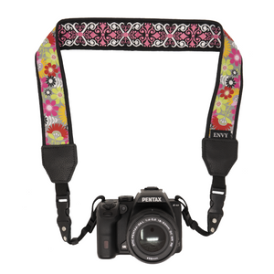 My Fave Camera Neck Strap - Decorative, Reversible Camera Strap - Pattern: Celebrate