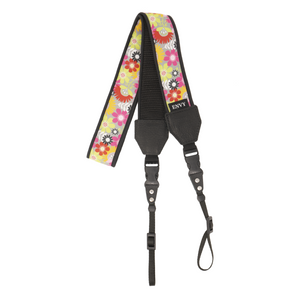 My Fave Long Camera Neck Strap - Decorative Camera Strap - Pattern: Celebrate