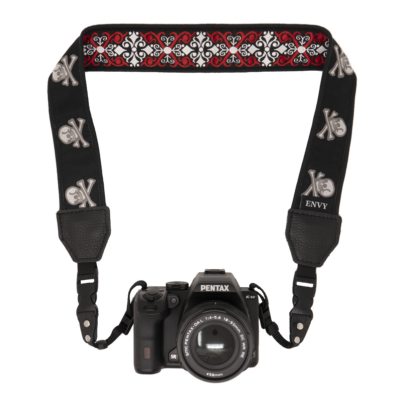 Camera Strap - Red Pirate