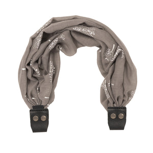 Scarf Strap for Sash Bags - Silver Trees