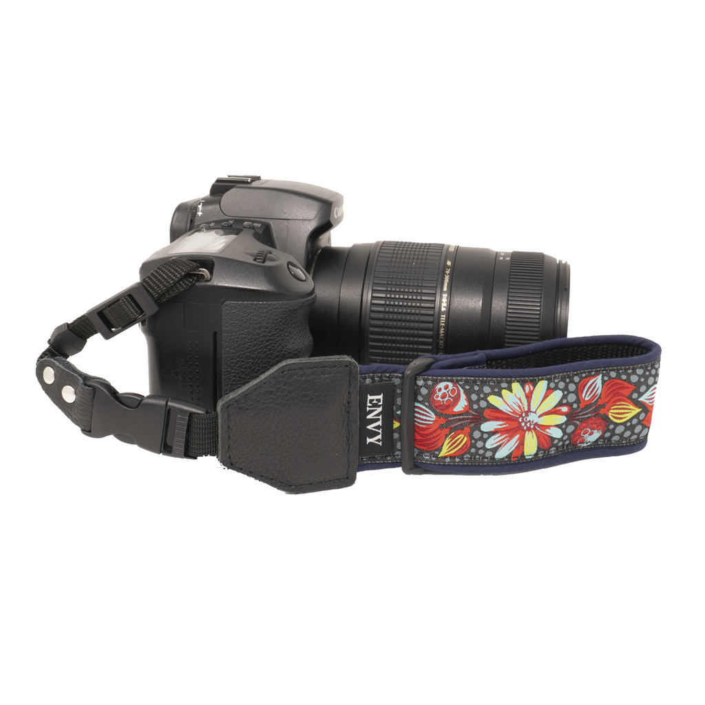 My Fave Camera Wrist Strap - Pattern: Denim Dream