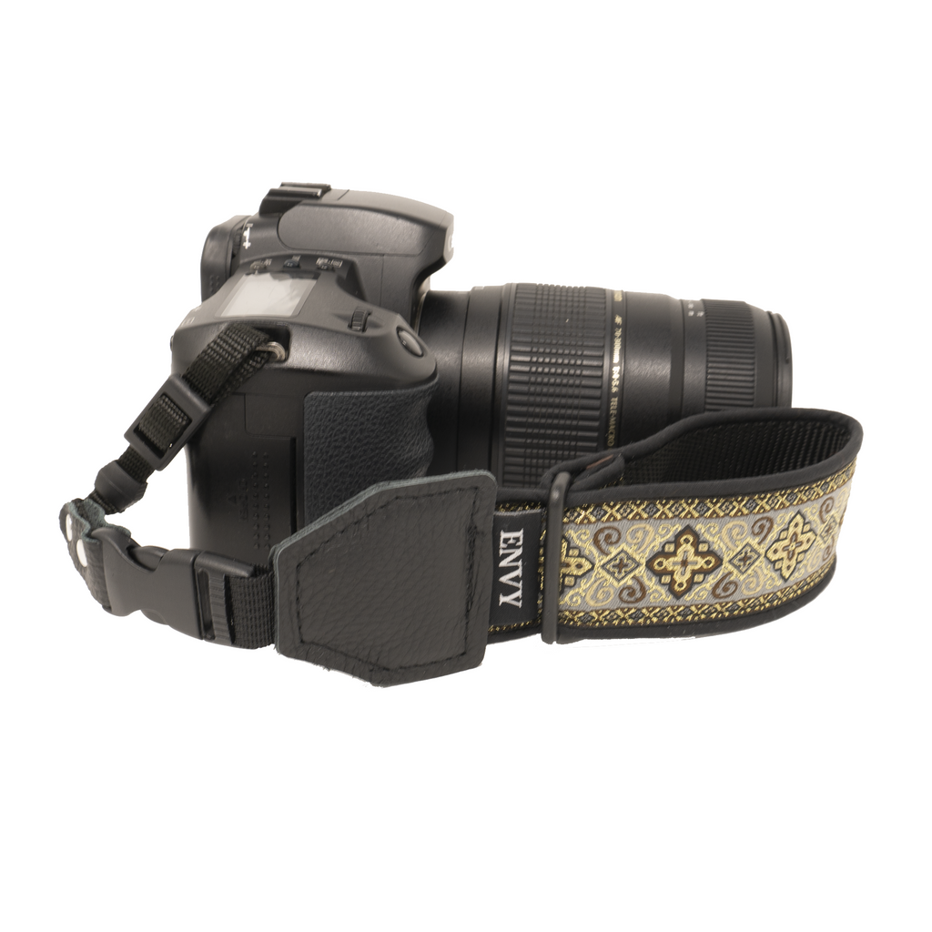 My Fave Camera Wrist Strap - Pattern: Fiesta, Color: Tan