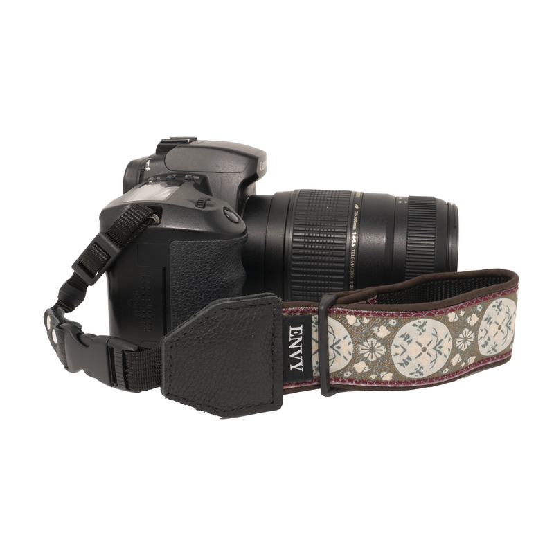 My Fave Camera Wrist Strap - Pattern: At Peace, Color: Brown