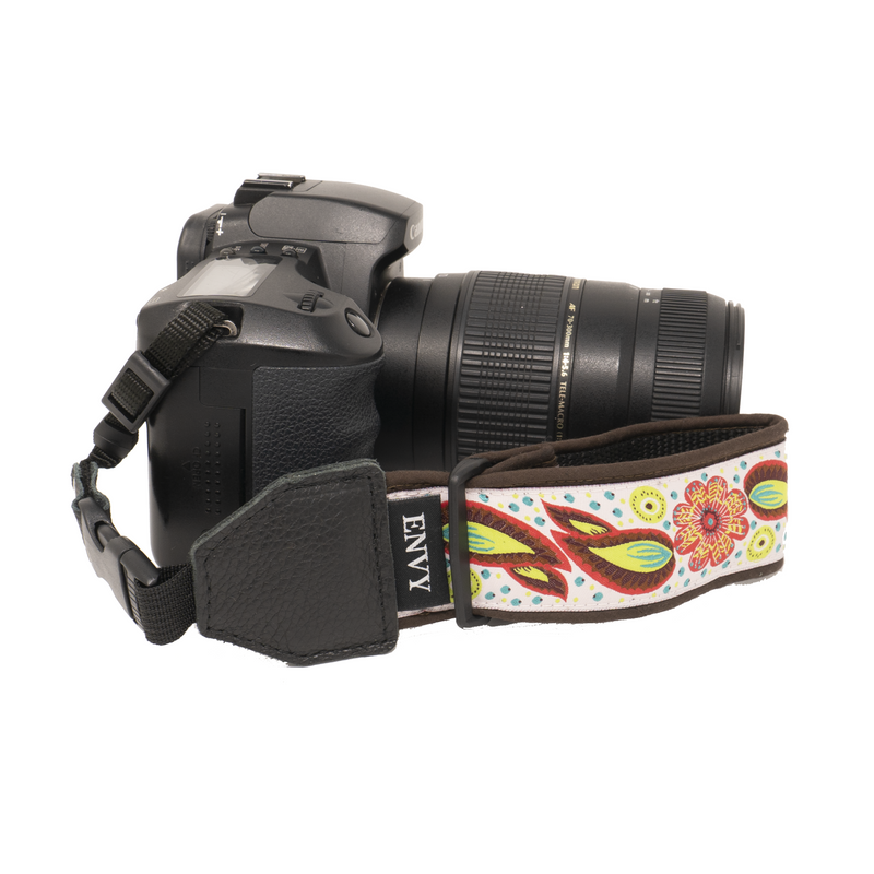 My Fave Camera Wrist Strap - Pattern: White Flowers