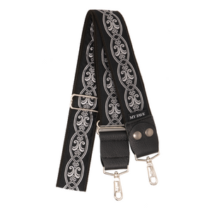 My Fave Designer Purse Strap in Blackened Silver