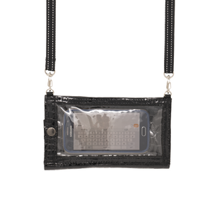 Phone Purse with Organizer - Black Patent