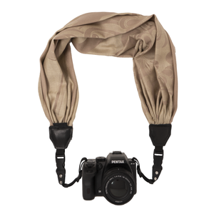 My Fave Camera Scarf Strap in Tan ColorBlends