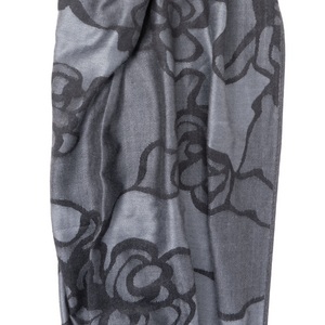 My Fave Yoga Mat Scarf Strap in Black Blooms
