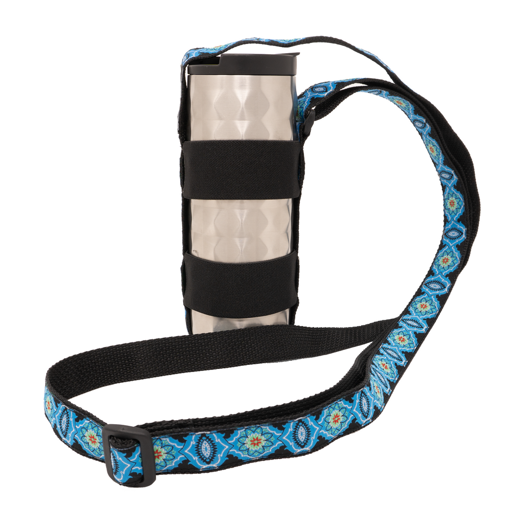 My Fave Water Bottle and Travel Mug Strap in Blue Dynasty