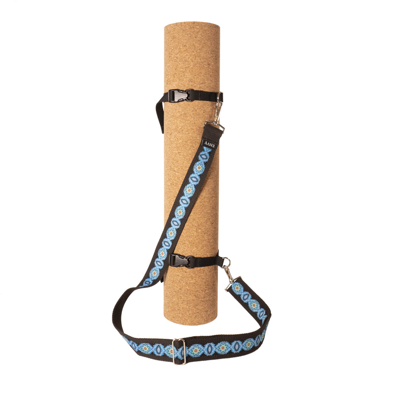 My Fave Yoga Mat Strap in Blue Dynasty