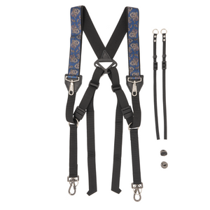 My Fave Dual Camera Harness in Blue Paisley