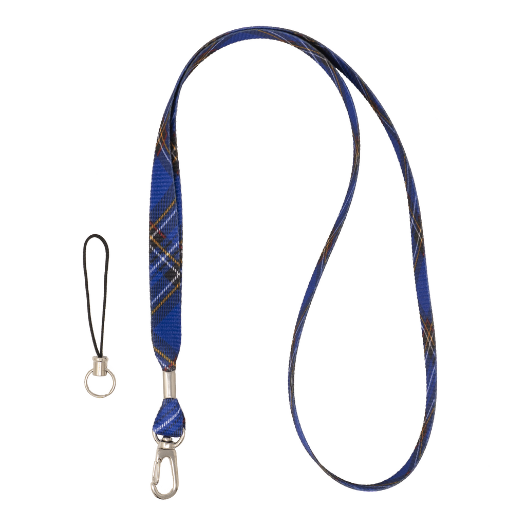 My Fave Camera Lanyard in Blue Plaid