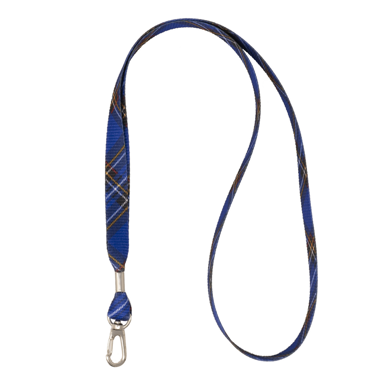 My Fave Lanyard in Blue Plaid
