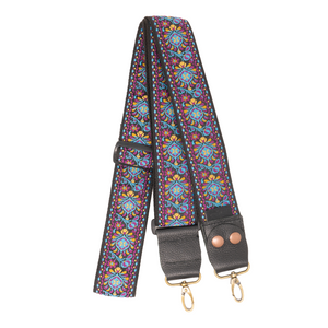 Designer Purse Strap - Purple Bohemiam