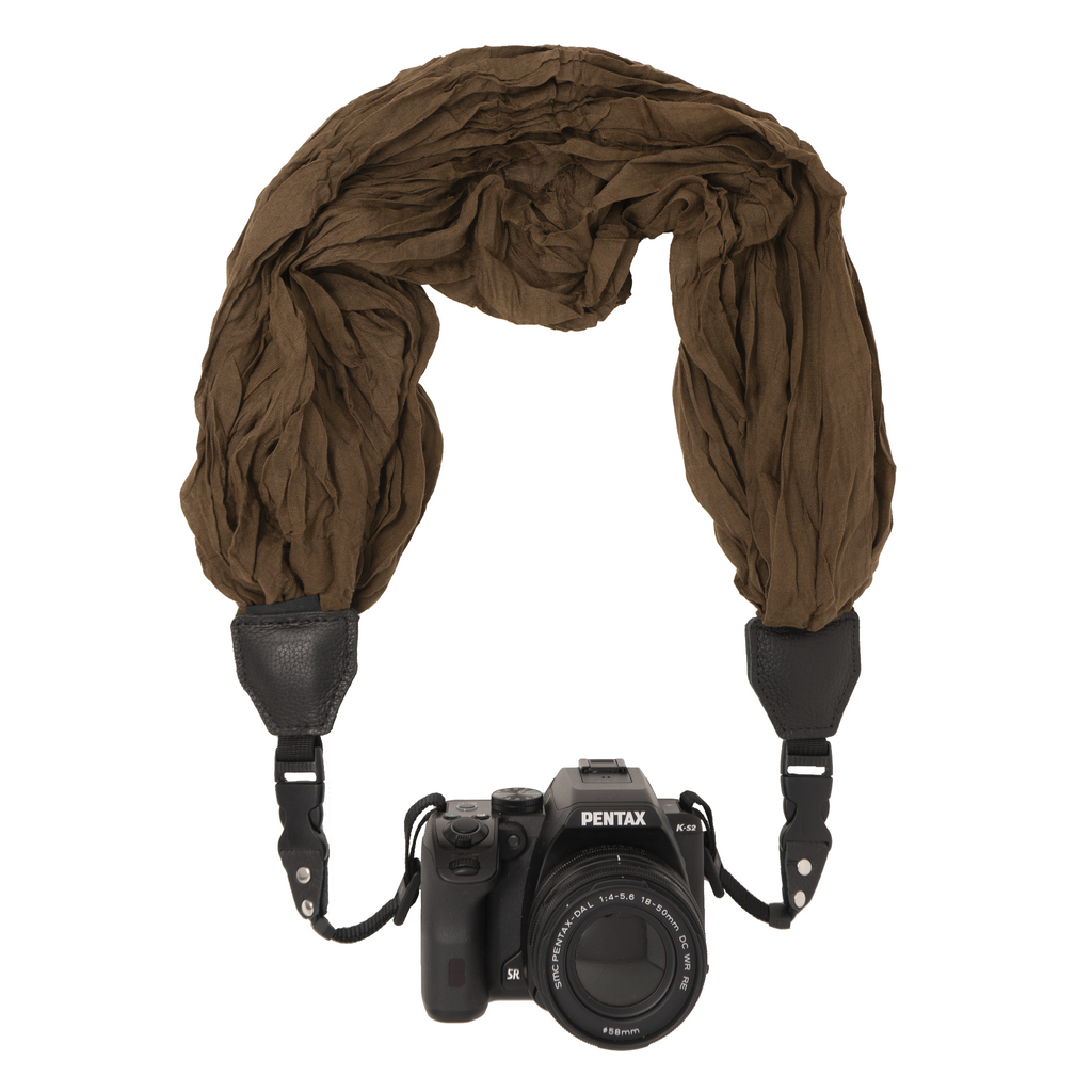 My Fave Camera Scarf Strap in Brown
