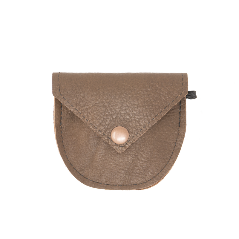 Camera Lens Cap Pocket - Brown