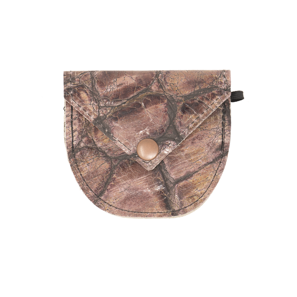 Leather Lens Cap Pocket - Brown Medley
