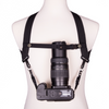 My Fave Camera Harness Chest Strap holding a long lens upright