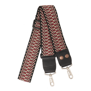 My Fave Designer Purse Strap - Red Criss Cross