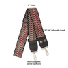 Designer Purse Strap - Red Criss Cross