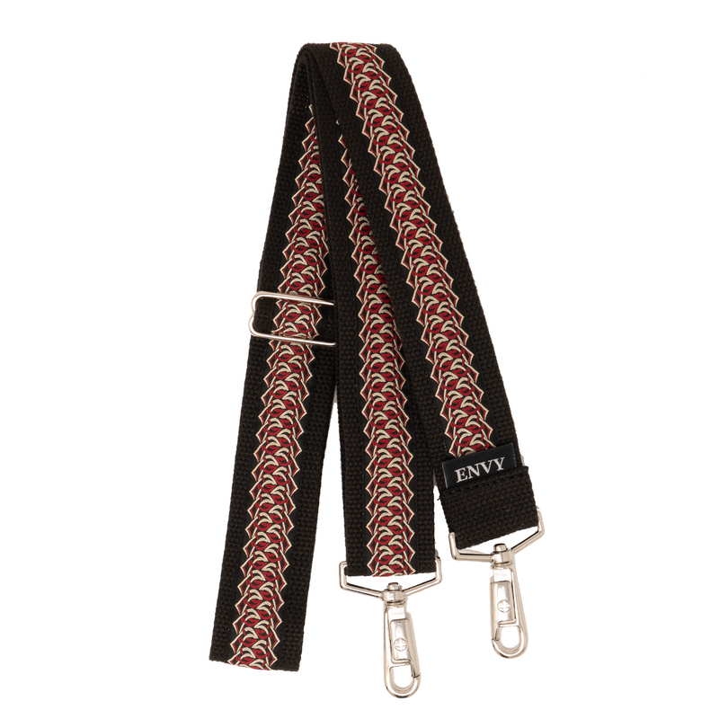 "Purse Strap (1.5"") - Red Criss Cross"