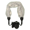 My Fave Camera Scarf Strap in Grey Embroidered Flowers