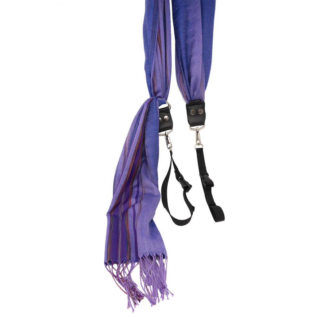 My Fave Yoga Mat Scarf Strap in Purple Faded Lines