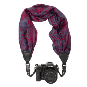 My Fave Camera Scarf Strap in Red ColorBlends