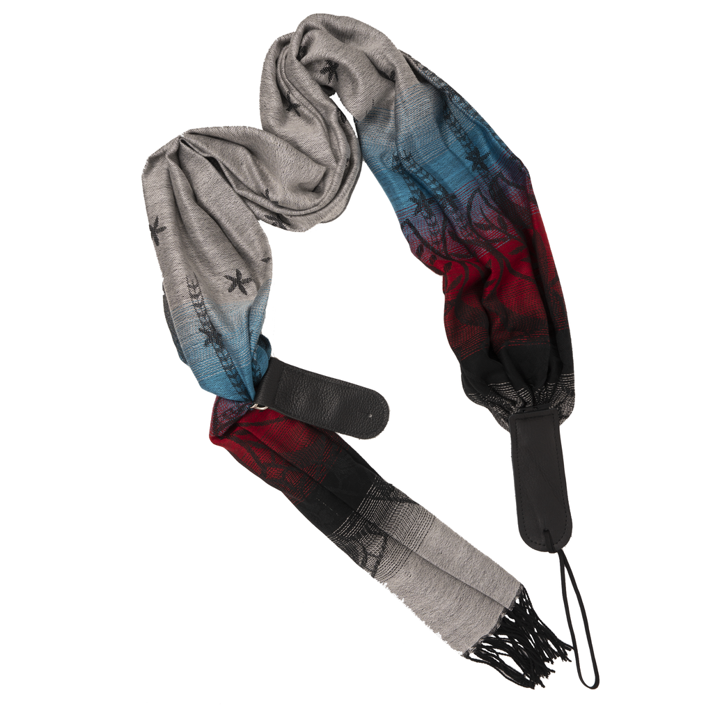 My Fave Guitar Scarf Strap in Grey Fade