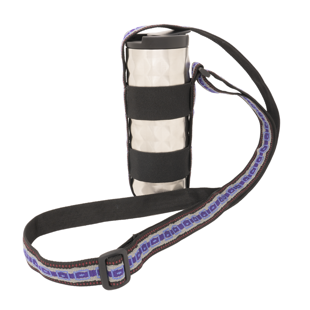 My Fave Water Bottle Strap - Purple Stripe