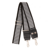My Fave Designer Purse Strap in Black and White Houndstooth