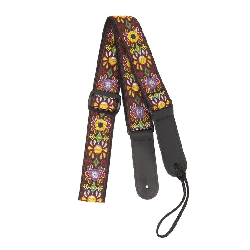 My Fave Mandolin Strap in Jamboree pattern
