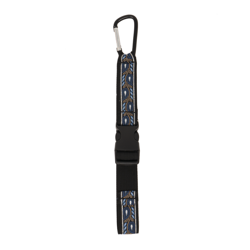 My Fave Jacket Strap Mini in Blue Leaf pattern