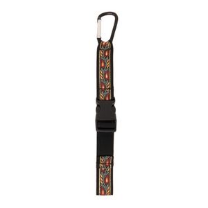 My Fave Jacket Strap in red leaf pattern