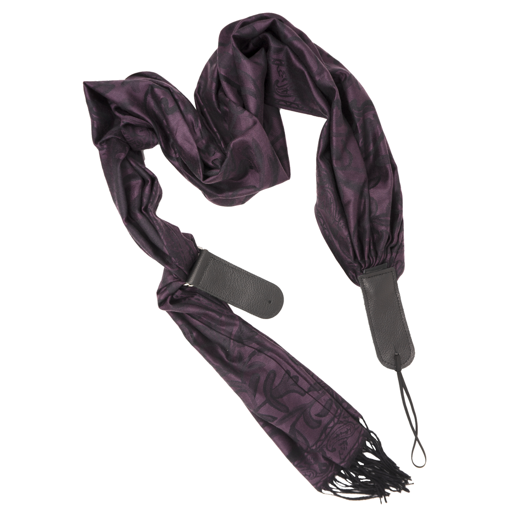 My Fave Guitar Scarf Strap in ColorTastics: PlumTastic