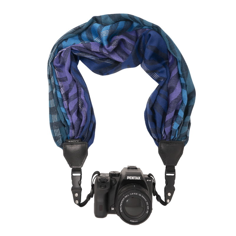 My Fave Camera Scarf Strap in Navy Dream