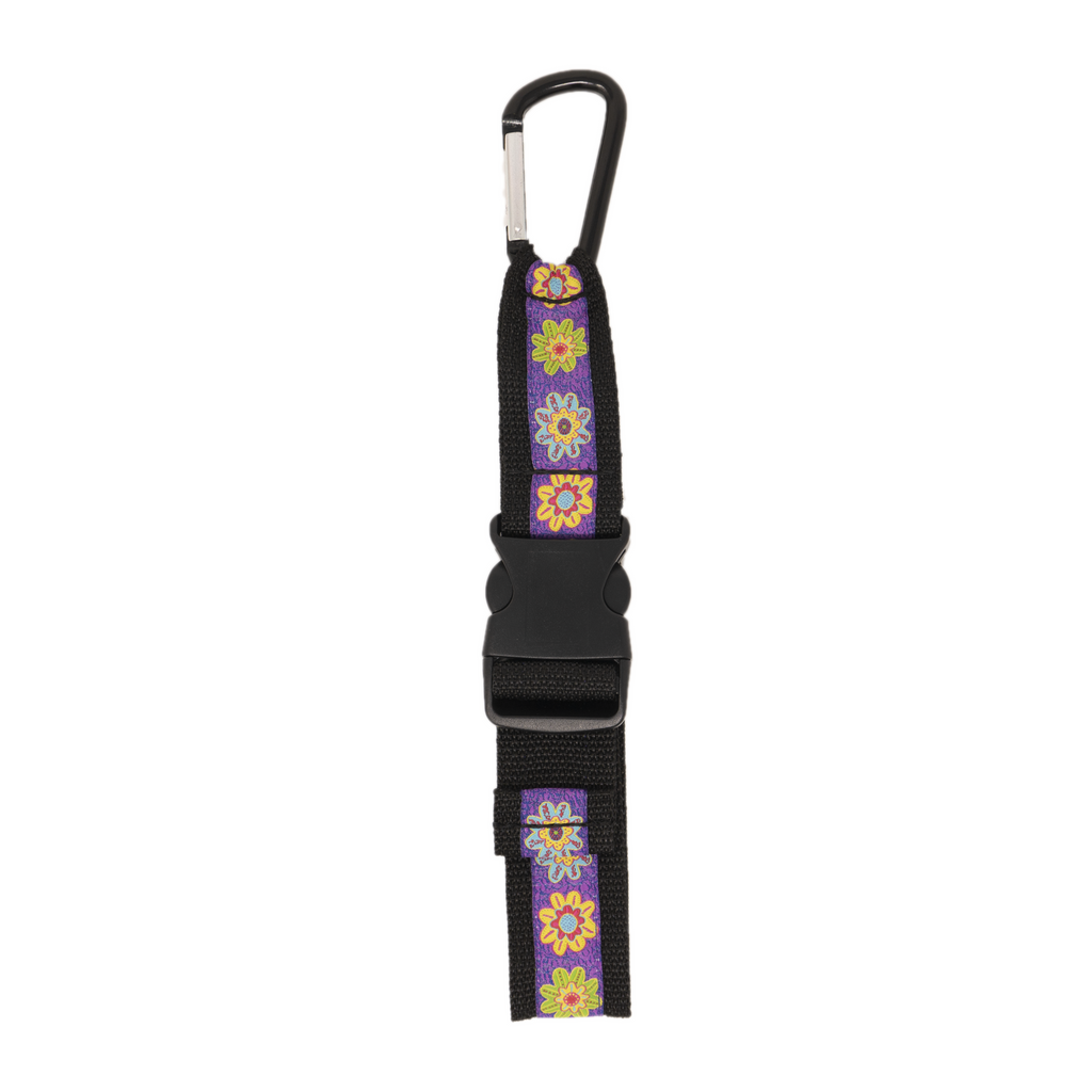Jacket Strap - Purple Flower
