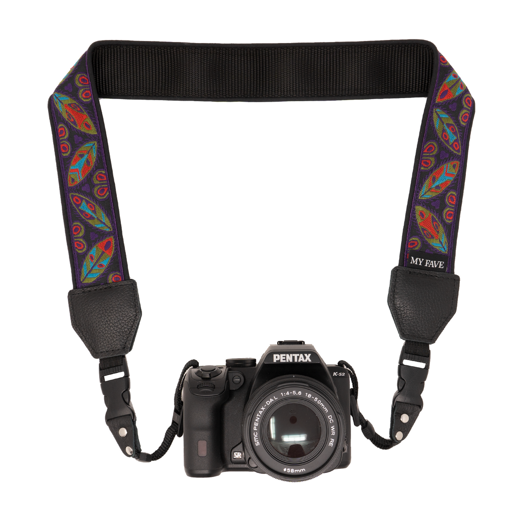 My Fave Camera Strap in Purple Mask