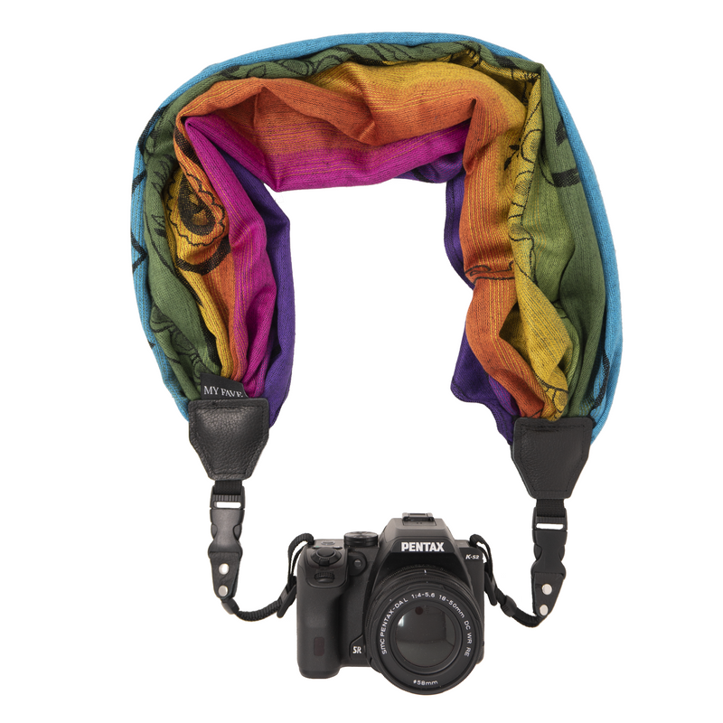 My Camera Scarf Strap in Rainbow Fade