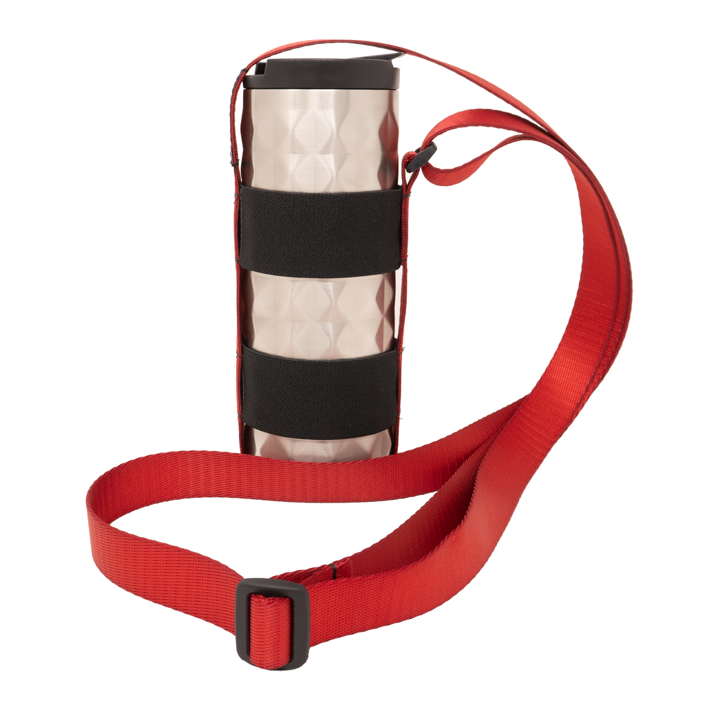 My Fave Water Bottle and Travel Mug Strap in Red