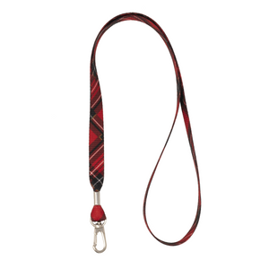 My Fave Lanyard in Red Plaid