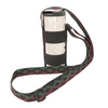 My Fave Water Bottle Strap - Burgundy & Forest Green Steps