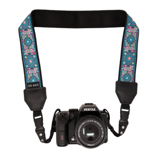 My Fave Camera Straps in Teal Abstract