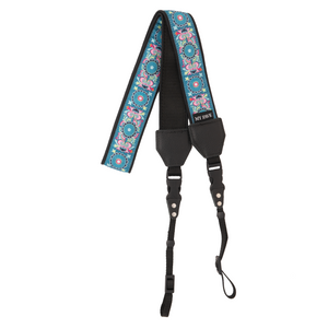 My Fave Camera Strap in Teal Abstract